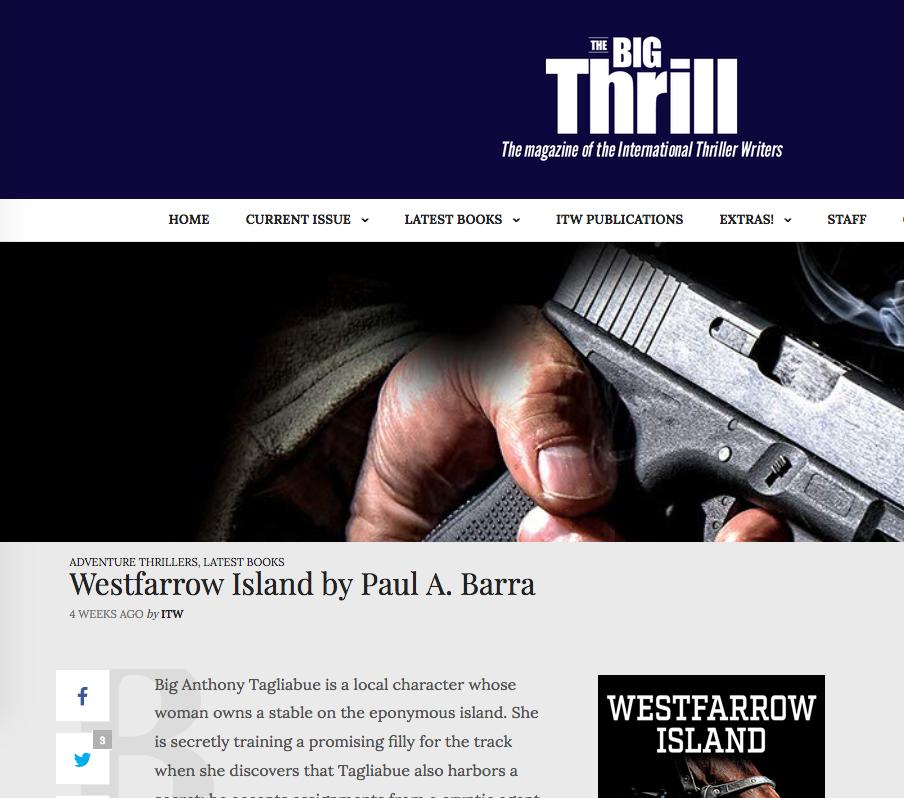 READ PAUL BARRA'S WESTFARROW ISLAND
