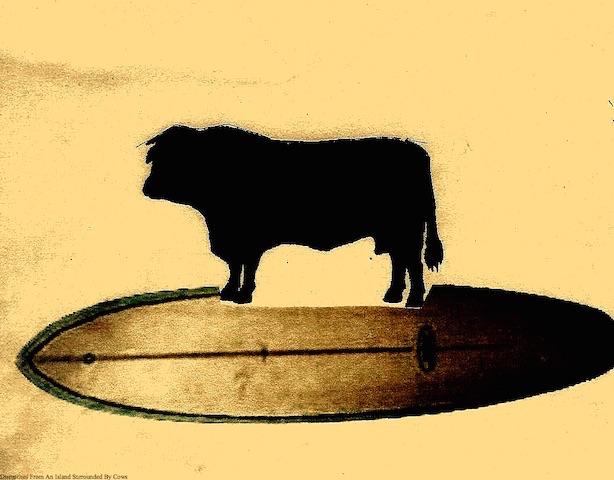 Surfing Cow Battle Flag